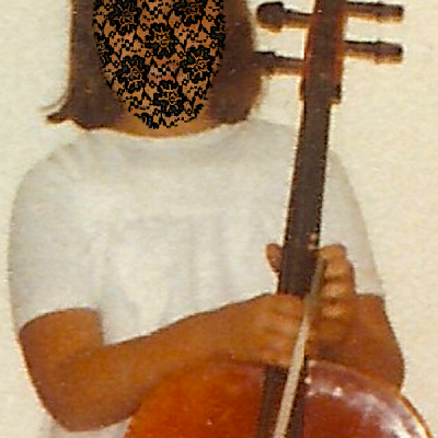 Young Laceface with her first cello